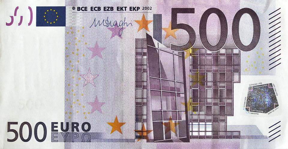 Euro, Dollar Bill, 500 Euro, Currency, Paper Money