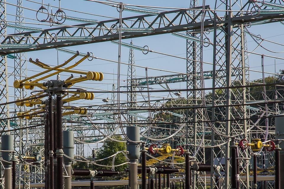 Substation, Electricity, Current, High Voltage