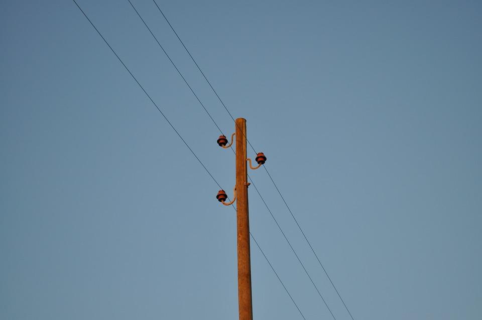 Current, Telephone Pole, Power Line, Energy