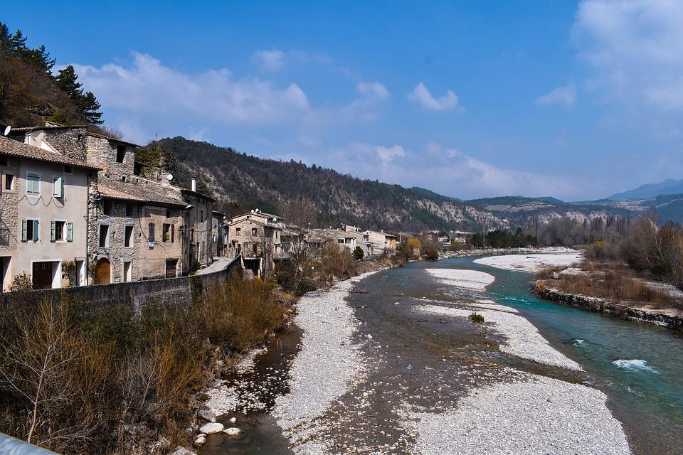 France, Drôme, Nature, River, Current, Turquoise