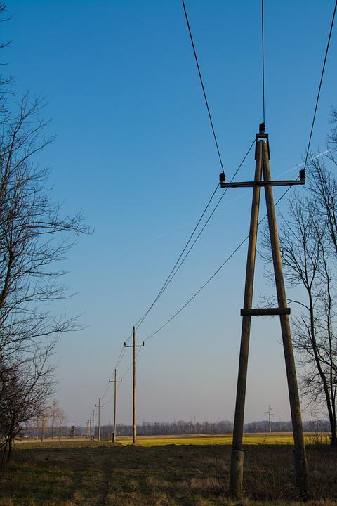 Power Line, Power Poles, Current, Energy, Power Lines