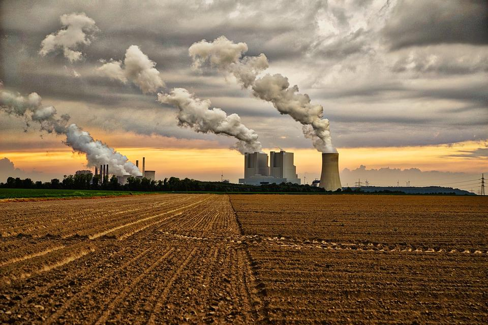 Power Plant, Clouds, Sky, Industry, Chimney, Current