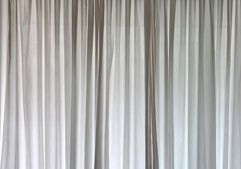Free photo Curtains Background Grey Window Fabric Curtain - Max Pixel