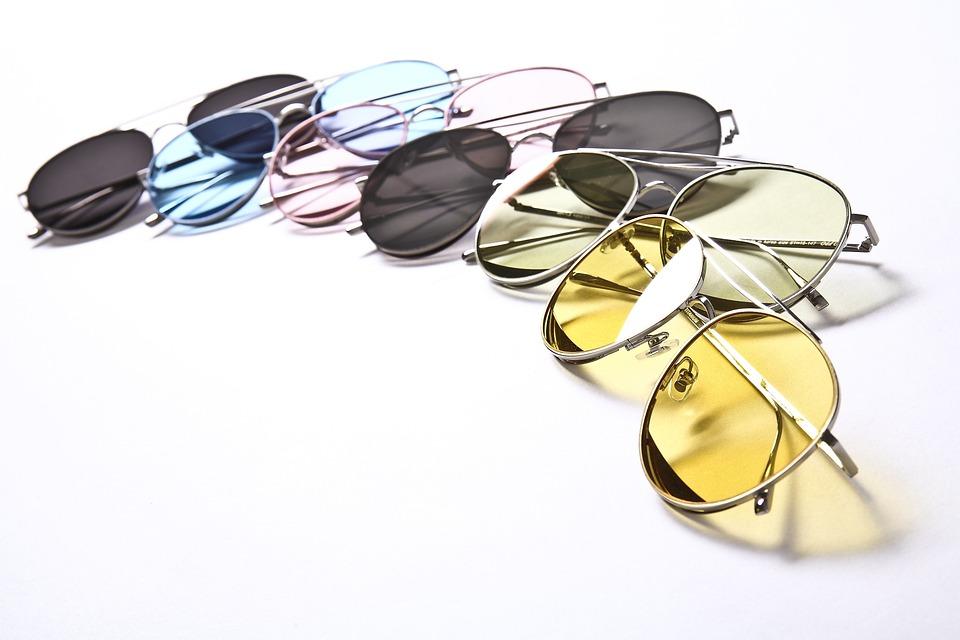 Sunglasses, Constitute, Color, Yellow, Curve, Fashion