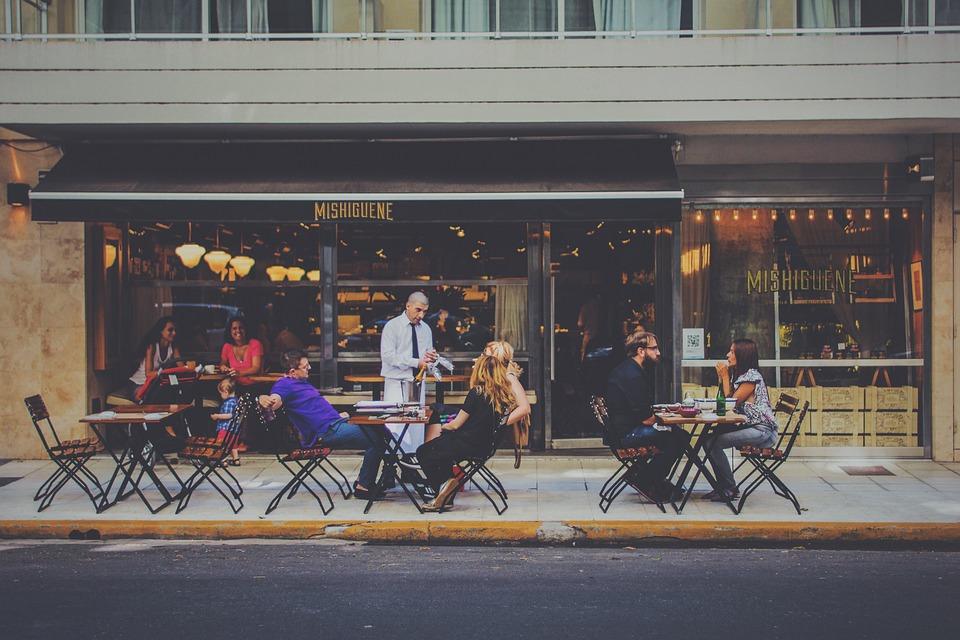 Bar, City Life, Waiter, Al Fresco, City, Customers