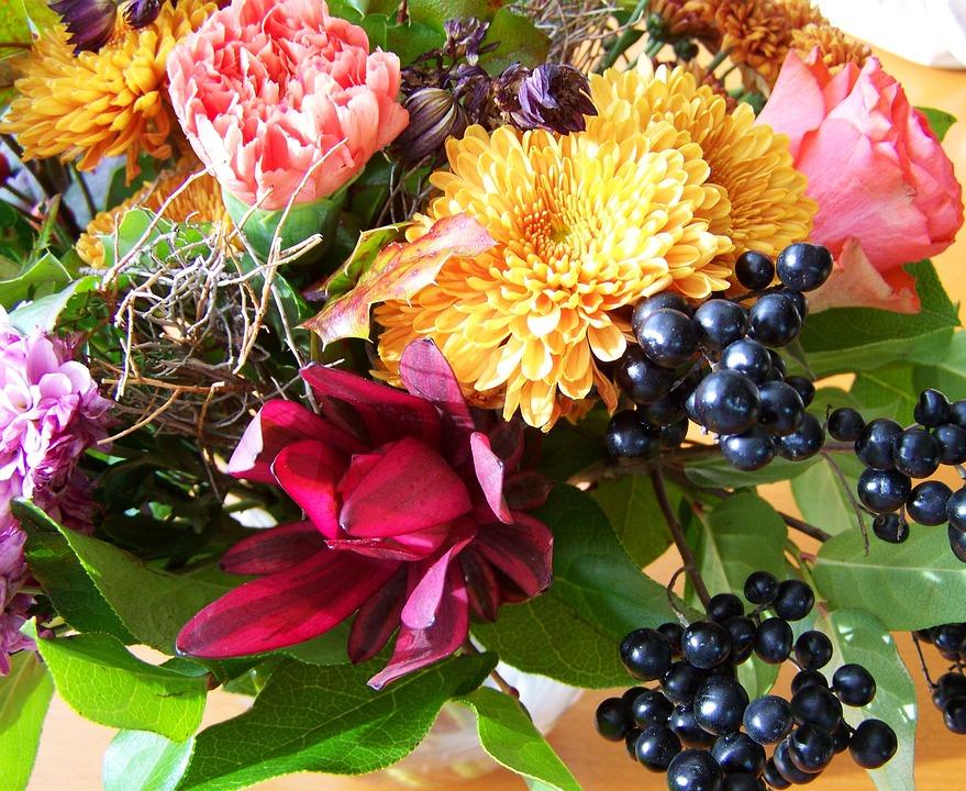 Bouquet, Bunch Of Flowers, Mixed Flower, Cut Flower