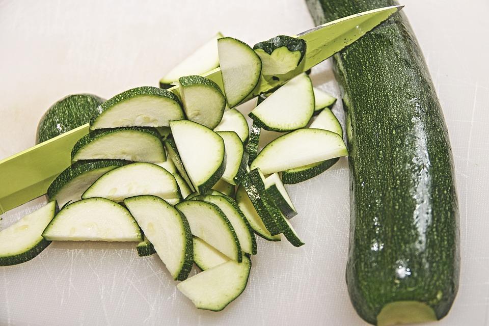 Zucchini, Vegetables, Garden Pumpkin, Cut, Discs