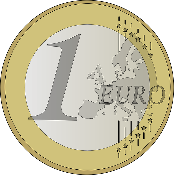 Euro, Coin, Money, Currency, Wealth, Finance, Cut Out