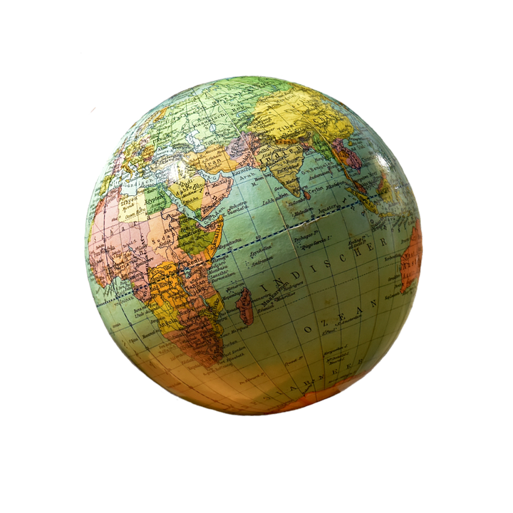 Globe, Isolated, Exemption, Cut Out, Cropping