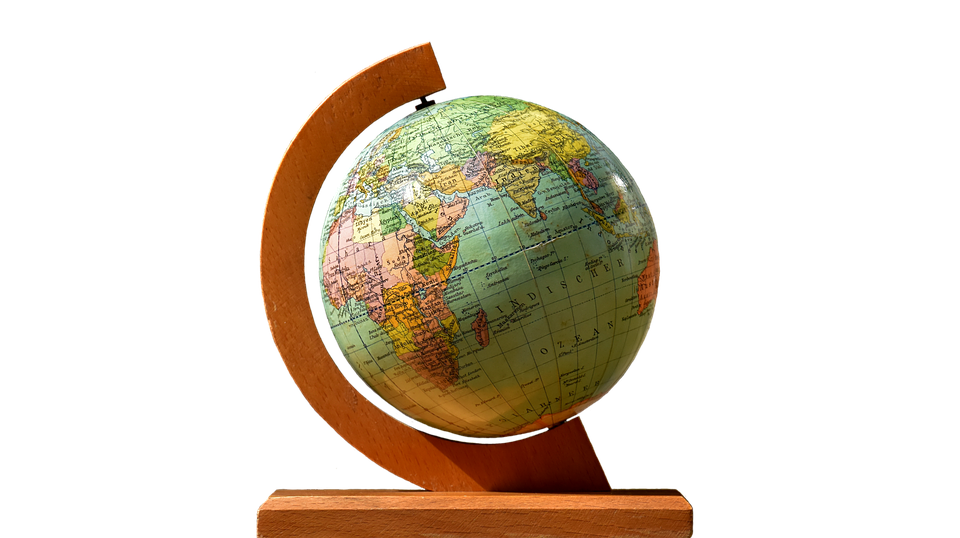 Globe, Stand, Turn, Isolated, Exemption, Cut Out