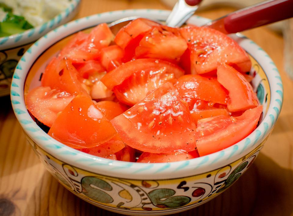 Tomato Salad, Shell, Salad, Cut, Tomatoes, Vegetables
