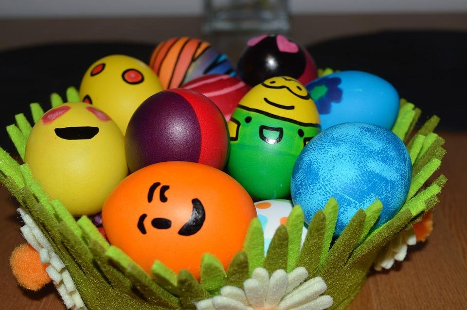 Eggs, Easter, Spring, Colored, Holiday, April, Cute