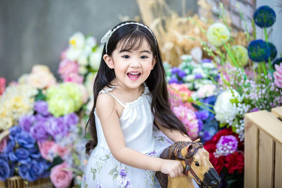 Free Photo Cute Baby Kids The Princess Flowers Max Pixel
