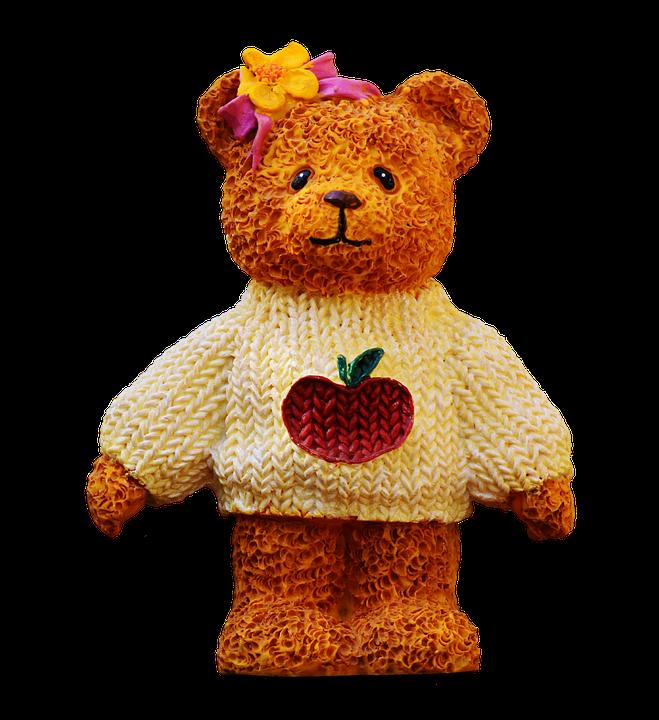 Bears, Art Stone, Cute, Knitting Sweater, Apple