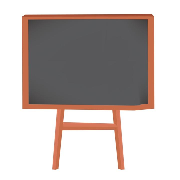 Classroom blackboard. Free photo cute clipart