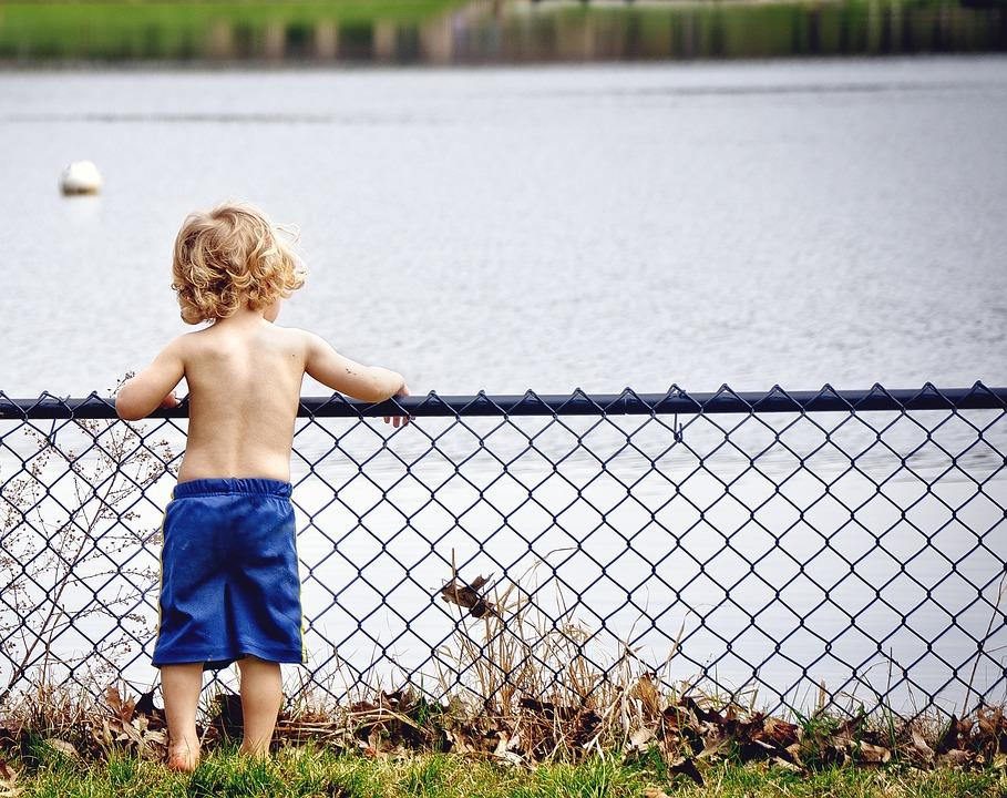 Boy, Kid, Young, Water, Watching, Serious, Cute, Joy
