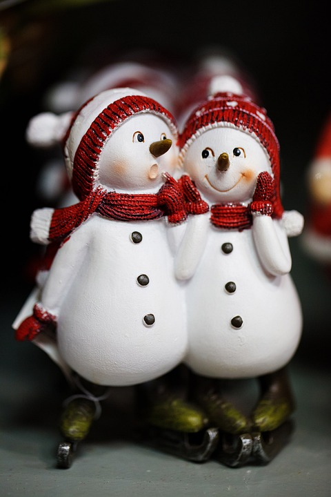 Snowmen, Celebration, Christmas, Cold, Couple, Cute
