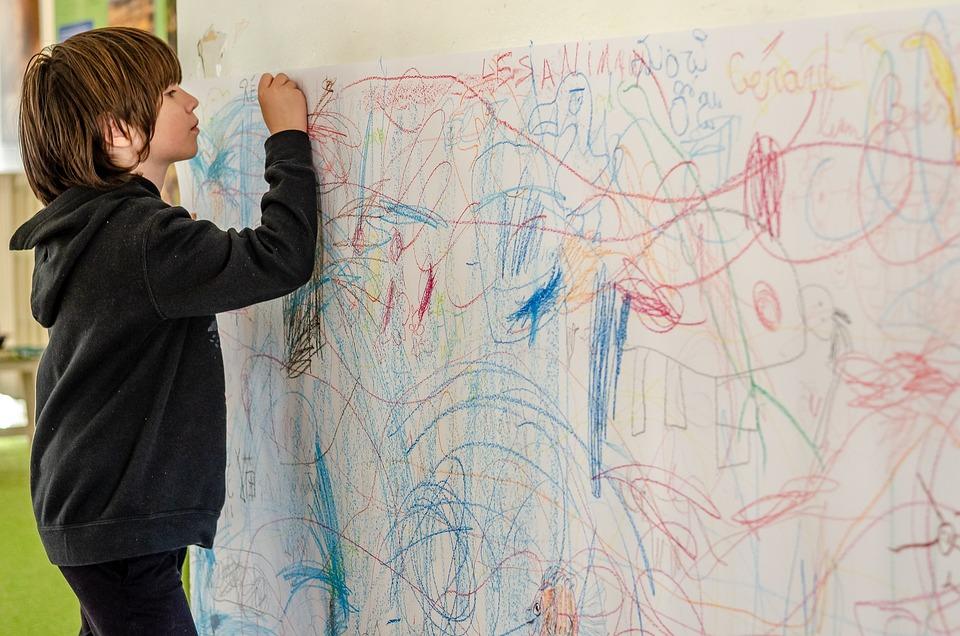 Child, Draw, Scribbles, Cute, Childhood, Fun, Boy