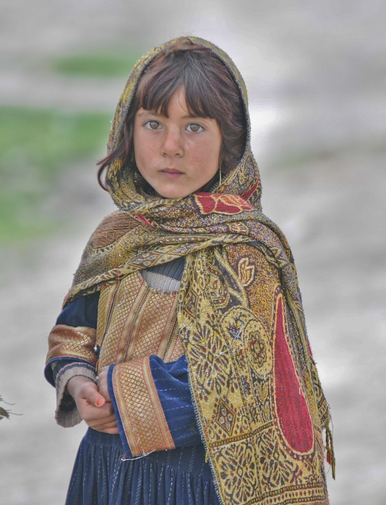 Girl, Child, Female, Afghanistan, Cute, Concerned