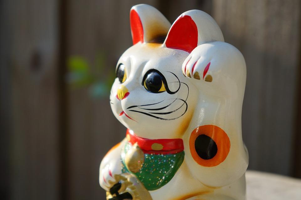 Cute, Fun, Maneki Neko, Japanese, Beckoning Cat, Cat