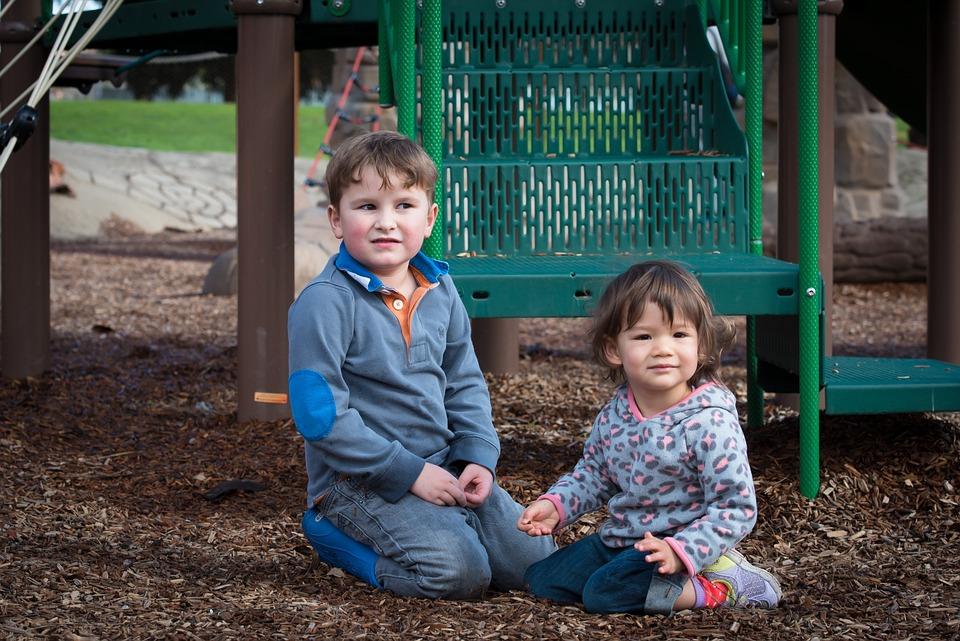 Cute, Kids, Girl, Happy, Playing, Sitting, Playground