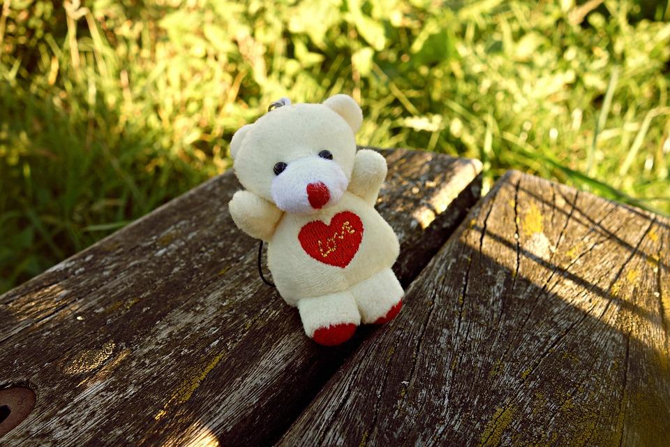 Teddy Bear, Bear, Toy, Cute, Key Hanger, Love, Heart