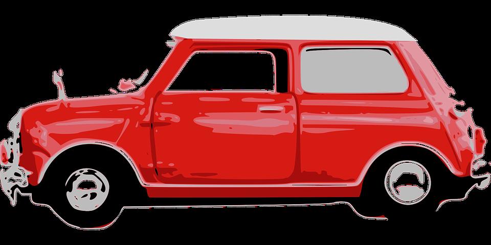 Car, Cute, Mini, Red