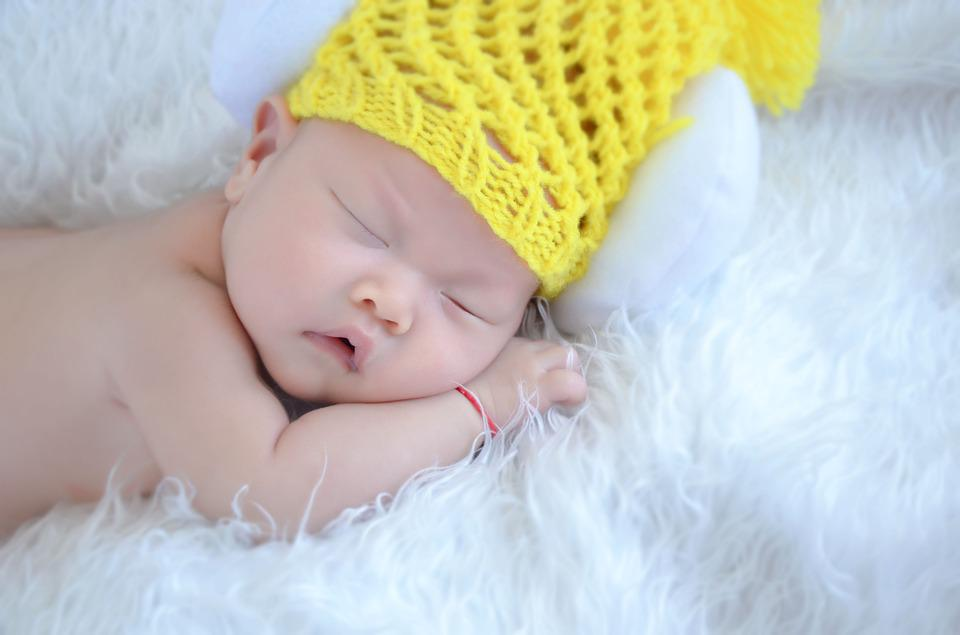 Baby, New Students, Cute, Hat, Sleep, Small