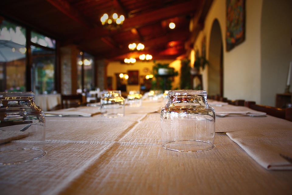 Inside Furniture Glass Cloth Cutlery Restaurant