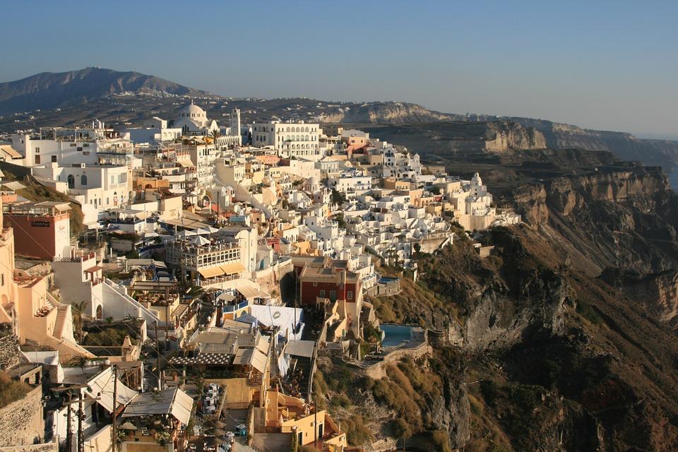 Santorini, Greece, Cyclades, The Coast, Landscapes, Sea