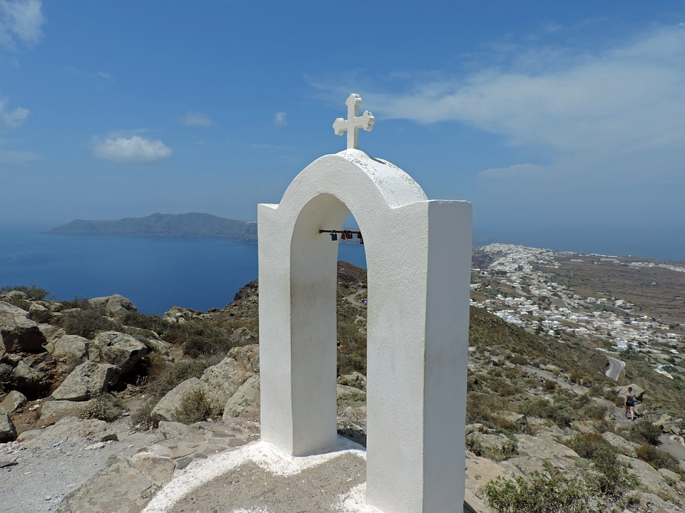 Greece, Santorini, Cyclades, Church