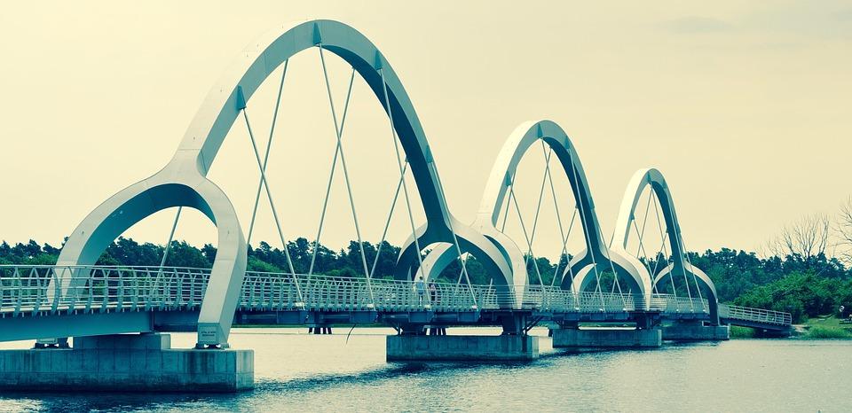 Footbridge, Cycle Bridge, Water, Architecture