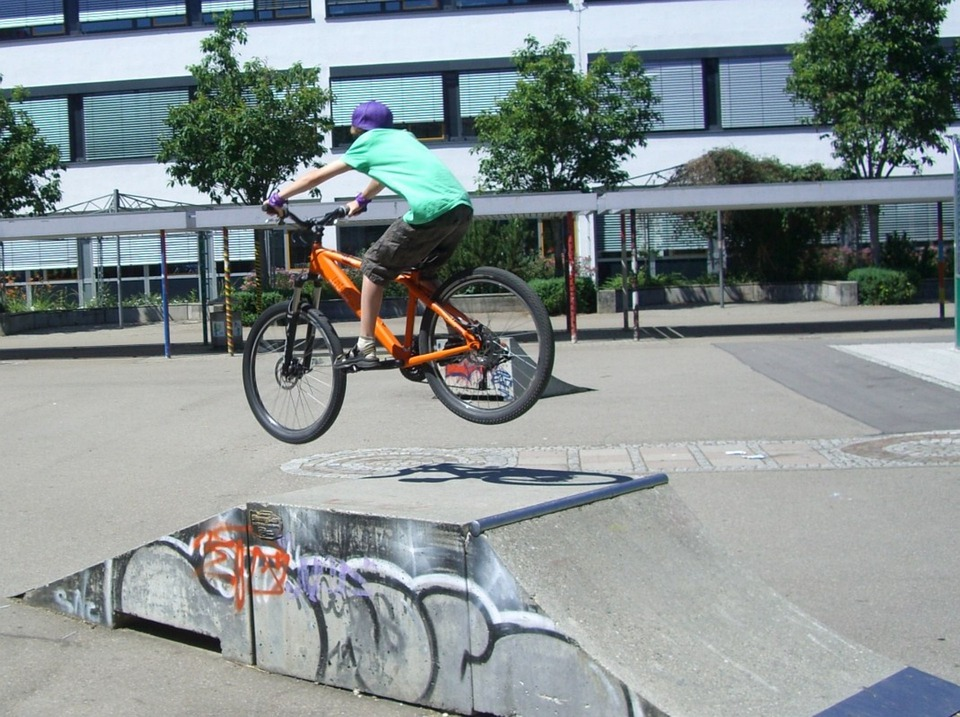 Biker, Ramp, Jump, Cycling