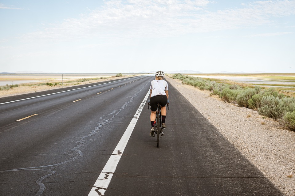 Cyclist, Cycling, Biking, Bike Riding, Road, Pavement