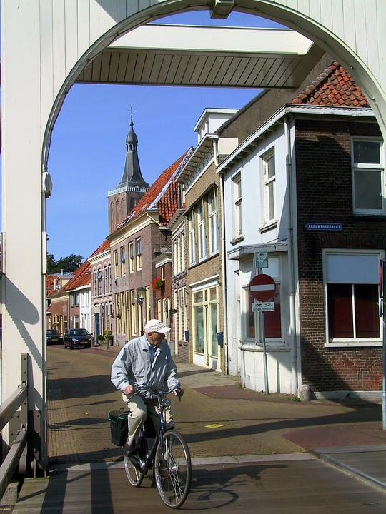 Cyclist, Cycling, Bicycle, Netherlands, Man On Bike