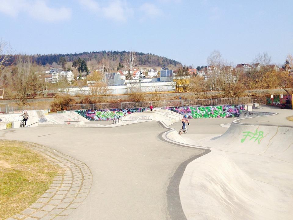 Skating, Train, Sport, Children, Bike, Cycling