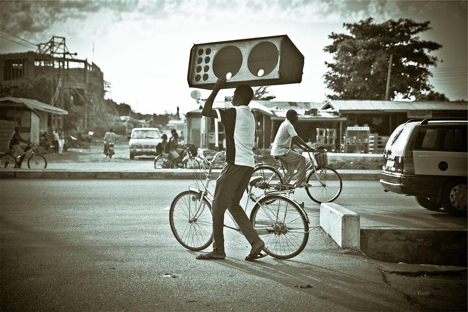 Speaker Box, People, Bikes, Bicycles, Cyclist, Street