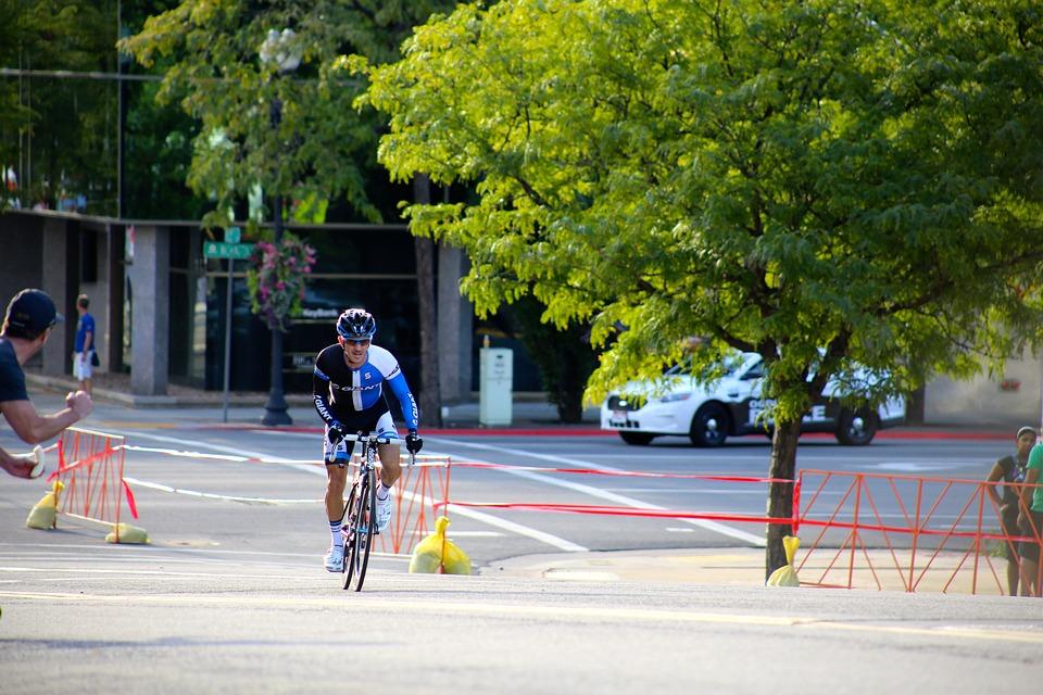 Cyclist, Biker, Race, Bike, Outdoors, Street, Road