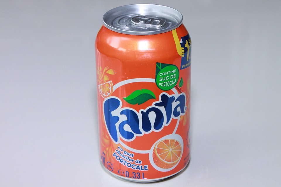 Aluminum, Can, Coca-cola, Cylinder, Drink, Fanta