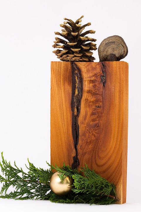 Christmas Decorations, Cypress Branch, Decoration, Wood