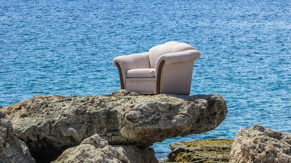 Armchair, Beach, Funny, Strange, Surrealistic, Cyprus