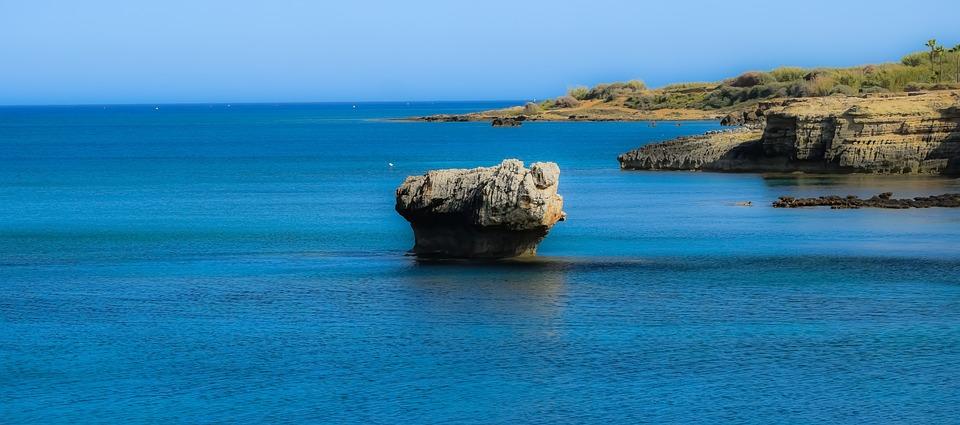 Cyprus, Kapparis, Rock, Sea, Nature, Coastline