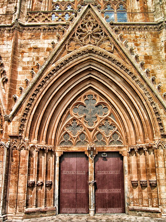 Famagusta, Cyprus, Church, Building, Door, Entrance