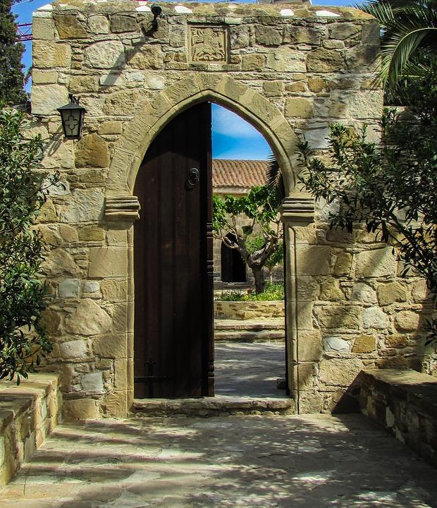 Cyprus, Troulli, Ayios Georgios Monastery, Entrance