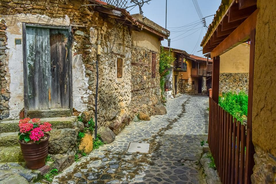 Cyprus, Kakopetria, Village, Street, Architecture