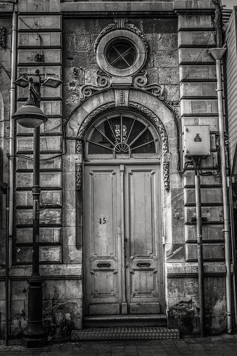 Cyprus, Limassol, Old Town, Building, Entrance, Door