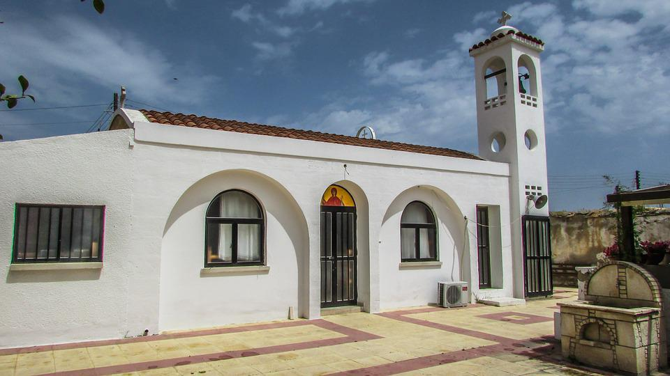 Cyprus, Paralimni, Ayia Marina, Church, Orthodox