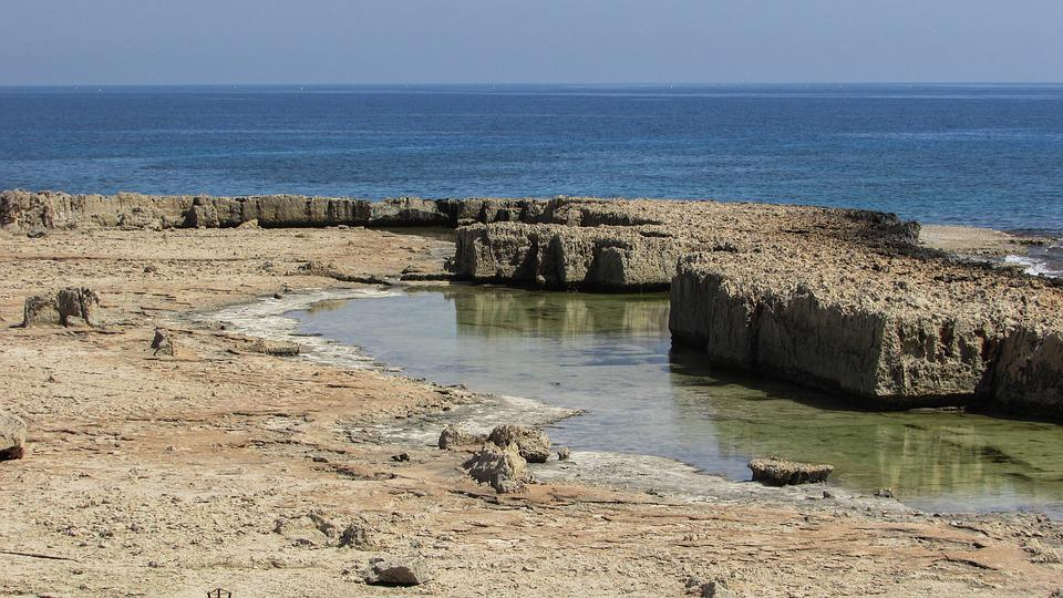 Cyprus, Ayia Napa, Makronissos, Rocky Coast, Landscape
