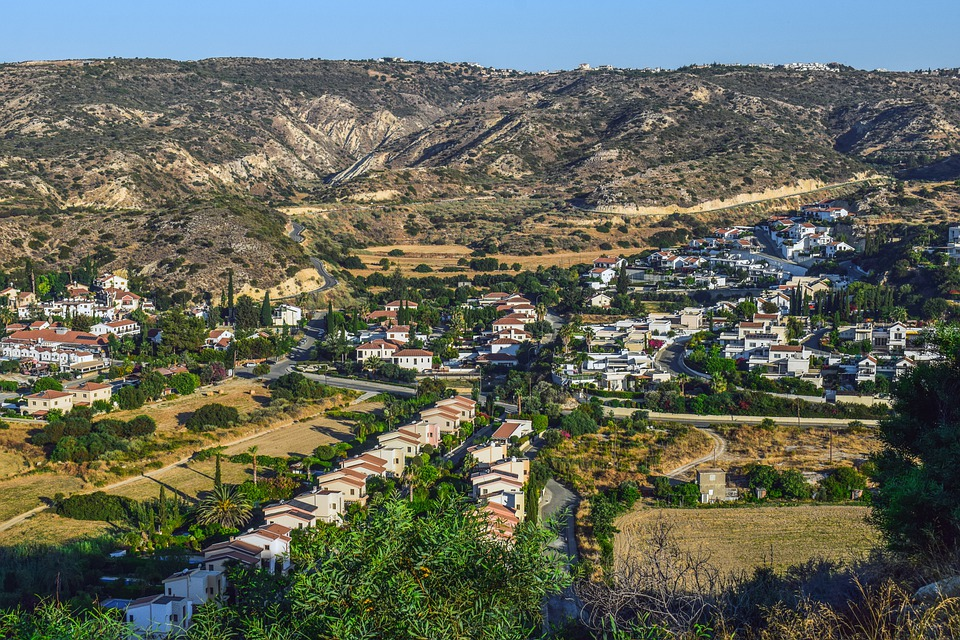 Cyprus, Pissouri, Resort, Village, Landscape, Scenery