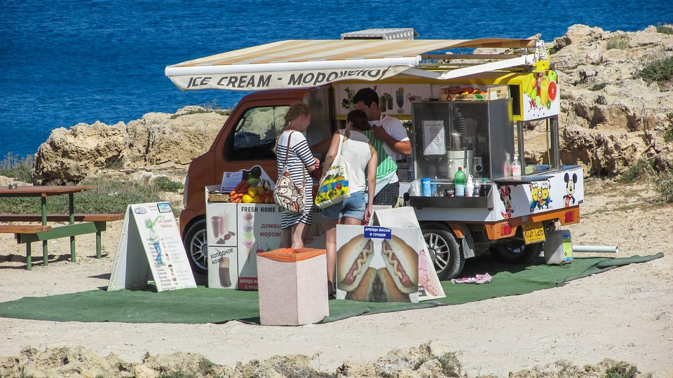 Cantina, Ice Cream, Outdoor, Tourism, Cyprus, Vacation